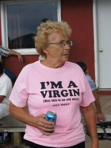 Old People Wearing Funny T-shirts