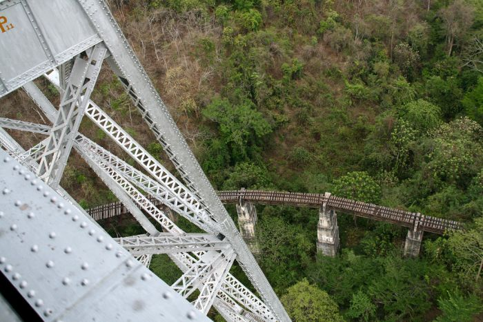 Goteik Viaduct in Myanmar