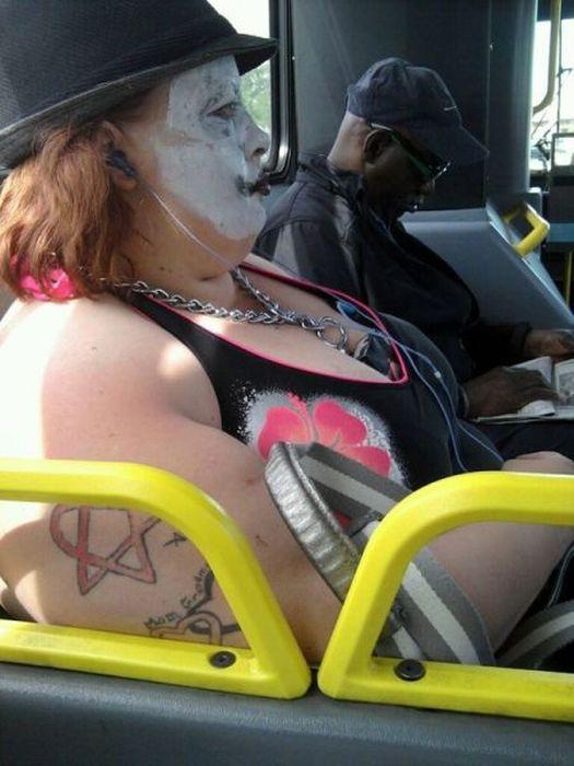 Strange People in Subway