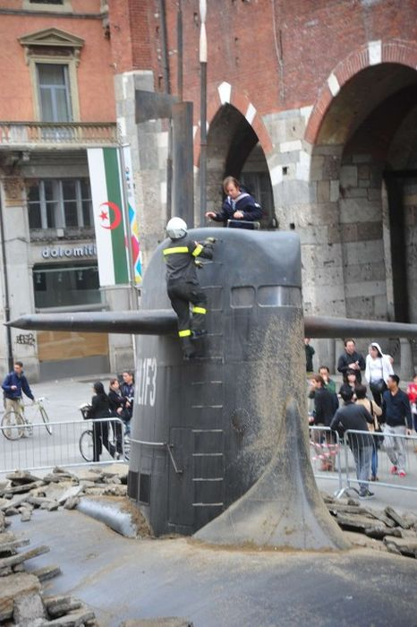 Submarine in the Centre of Milan