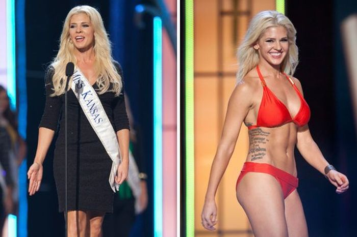 Photos of Miss Kansas Theresa Vail