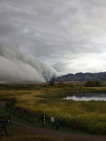 Shelf Clouds in Bozeman, MT