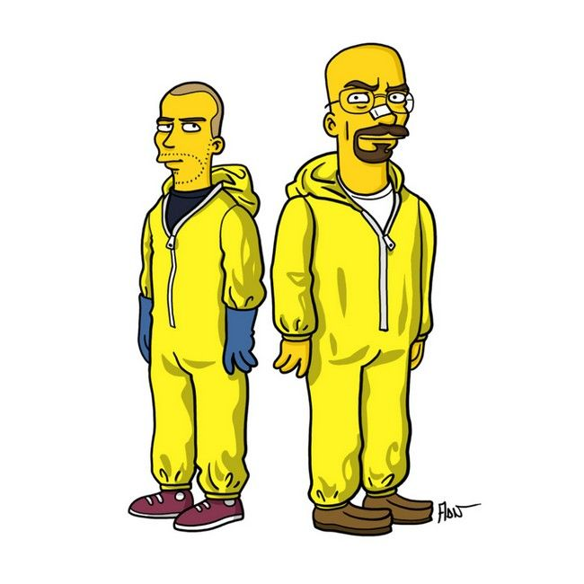 Breaking Bad Characters Get Simpsonized