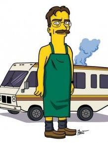 Breaking Bad Characters Get Simpsonized