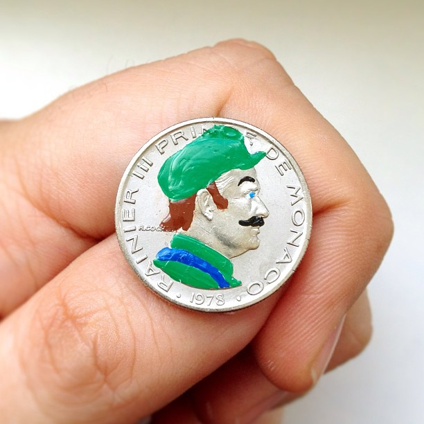 Famous Portraits Painted onto Coins