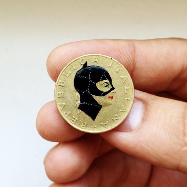 Famous Portraits Painted onto Coins