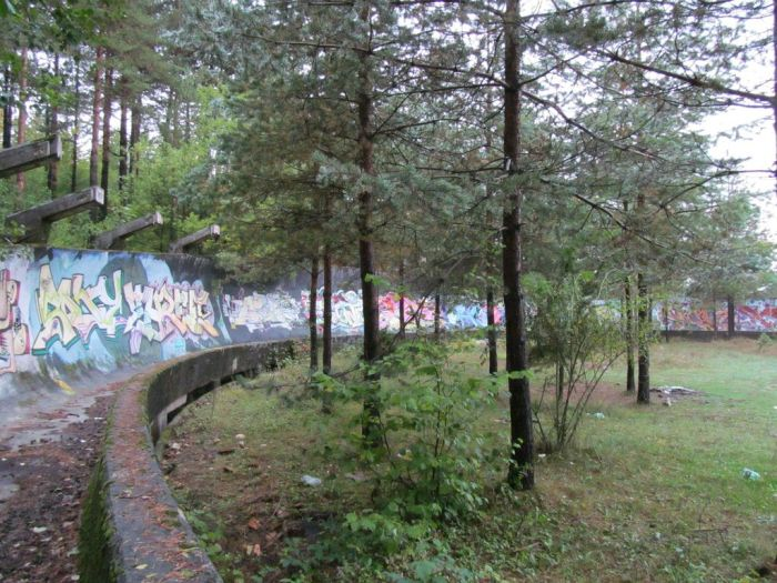 Abandoned Sarajevo Olympic Bobsleigh Track