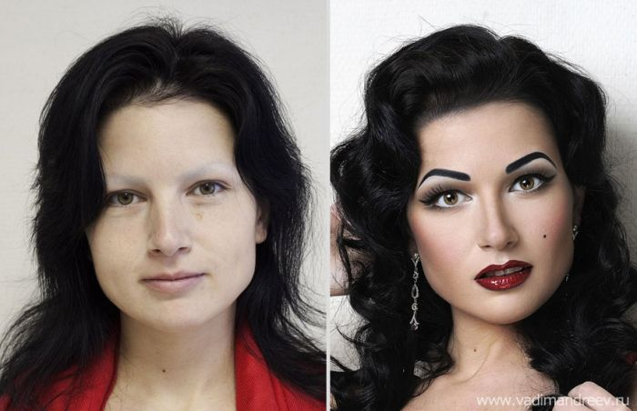 Russian Girls Before and After Makeup