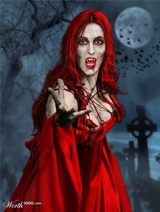 If Celebrities Were Vampires