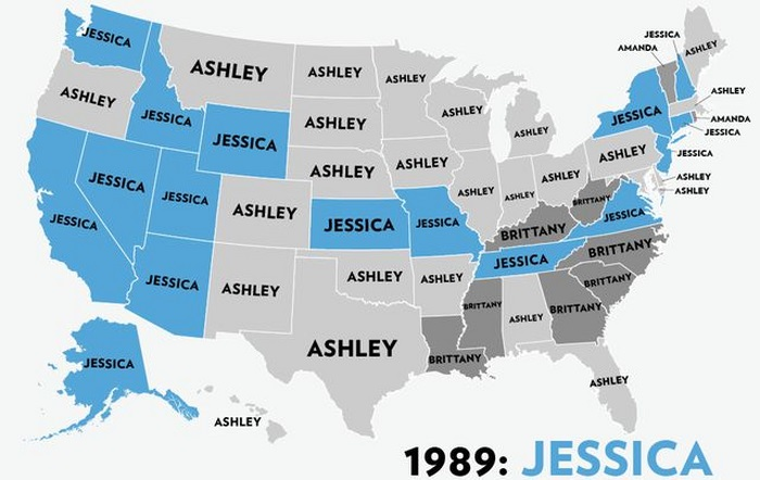 The Most Popular Baby Names For Girls In USA