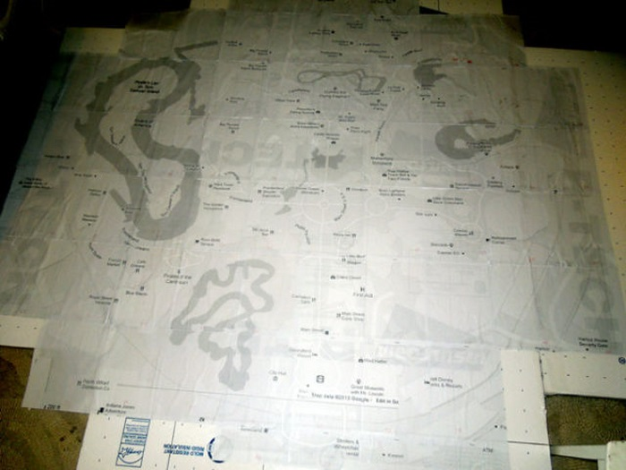 Disneyland Map as Halloween Costume