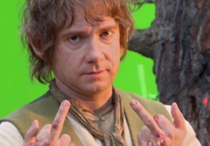 Martin Freeman's Middle Finger