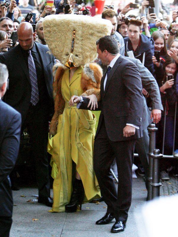Lady Gaga as a Chicken Nugget