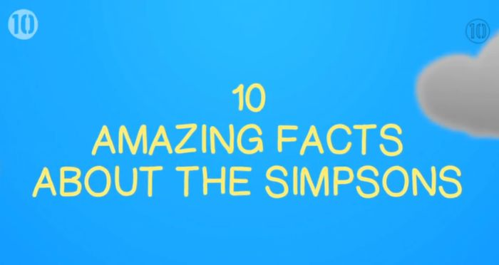Very Interesting Facts About The Simpsons