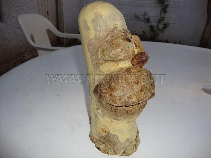 Wooden Homer Simpson