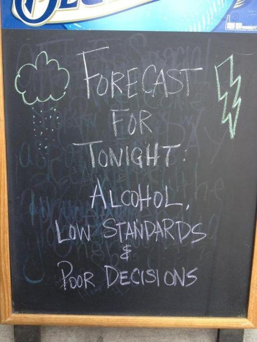 Hilarious Sidewalk Signs