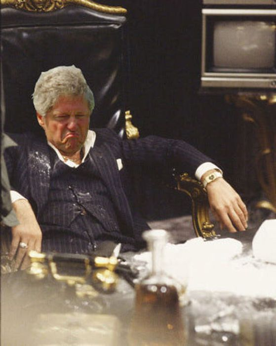 Displeased Bill Clinton Meme