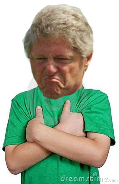 Displeased Bill Clinton Meme