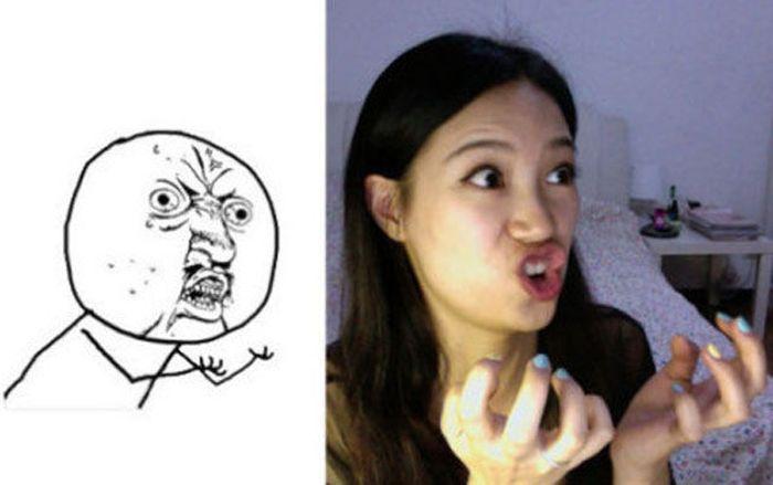 Girl Making Meme Faces