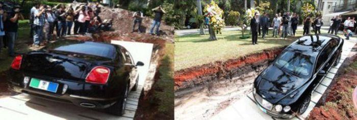 Billionaire Buries His Bentley
