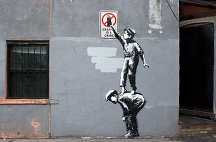 GIFs Made Out of Banksy's Art