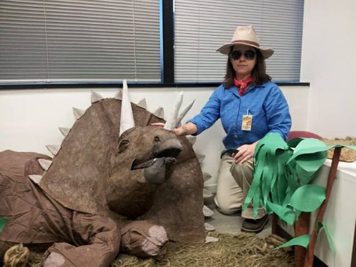 Jurassic Park Halloween Office Decoration