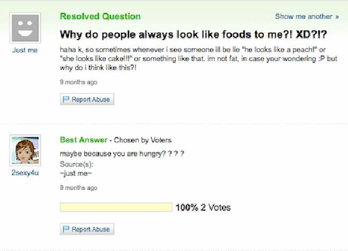 Yahoo Answer Fails