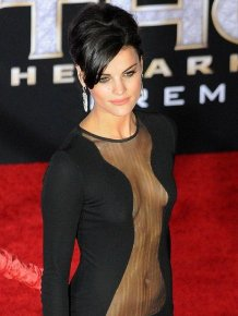 Jaimie Alexander Wears Nothing Under Her Dress