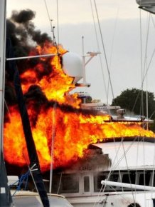 A Multi-Million-Dollar Superyacht Caught Fire