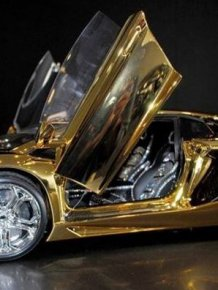Solid Gold Aventador LP 700-4 Model