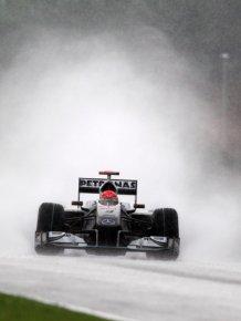 F1 in the rain