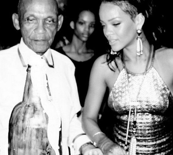 Rihanna With Her Grandfather