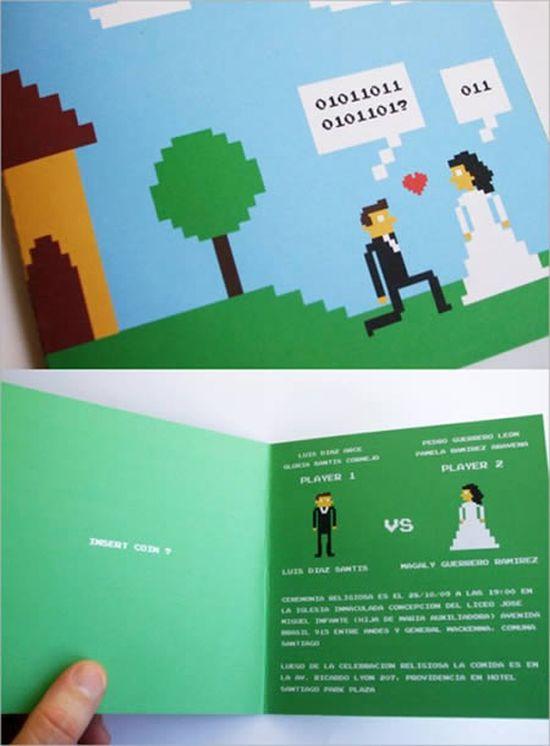 Geeky Wedding Invitations, part 2