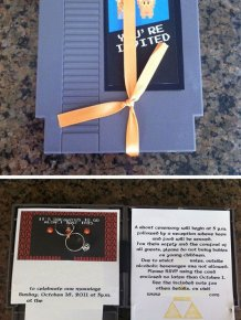 Geeky Wedding Invitations