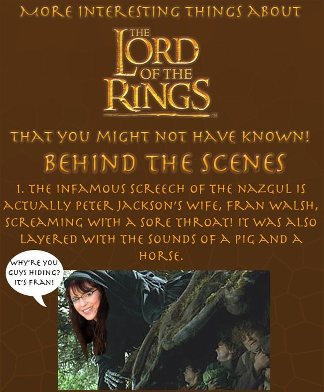 Lord of The Rings Facts