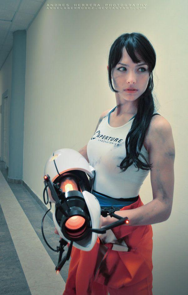 Angela Bermudez in Portal Cosplay Costume