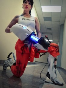 Angela Bermudez in Portal Cosplay Costume