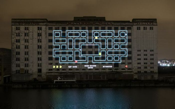 Gigantic Pacman in London