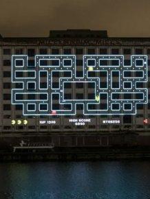 Gigantic Pacman in London