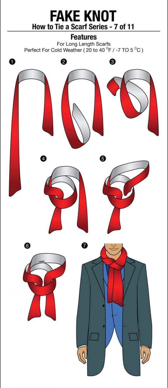 Как завязывать шарф мужчине схемы