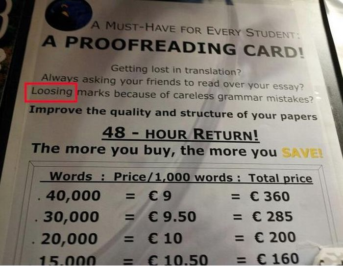 Grammar and Spelling Fails, part 2