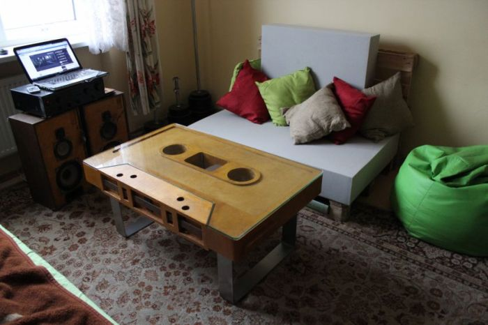 Audio Cassette Coffee Table Others - Cassette coffee table