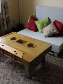 Audio Cassette Coffee Table