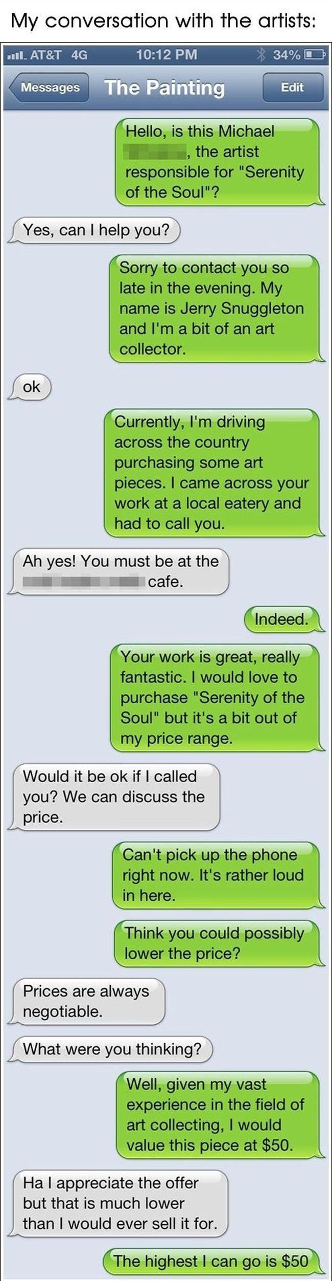 Restaurant Artist Gets Pranked