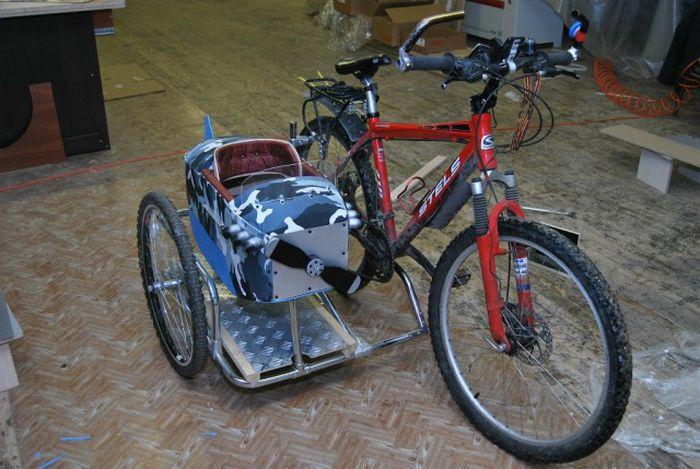 Как сделать на велосипед с коляской 459