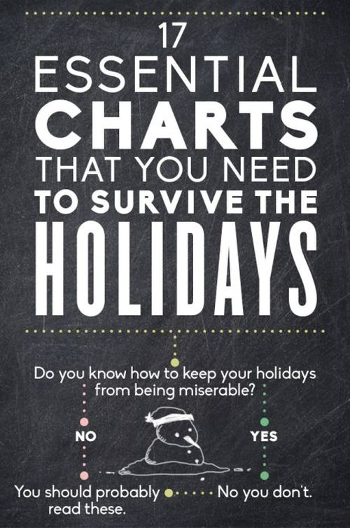 Essential Charts That You Need To Survive The Holidays