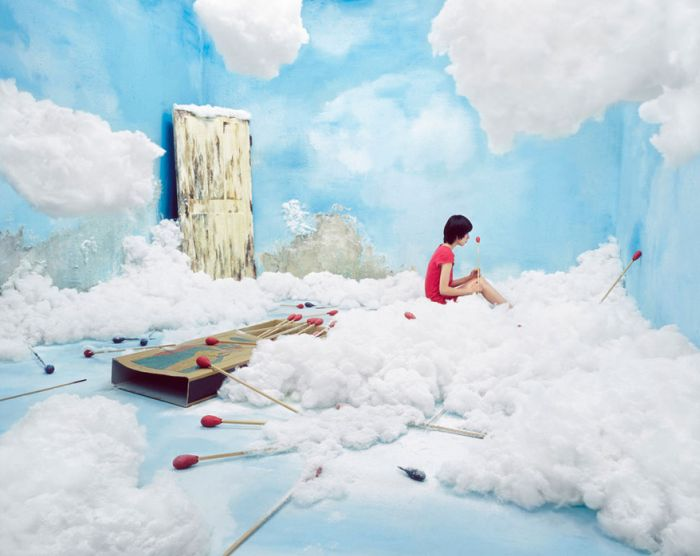 Surreal Worlds in an Artist's Room