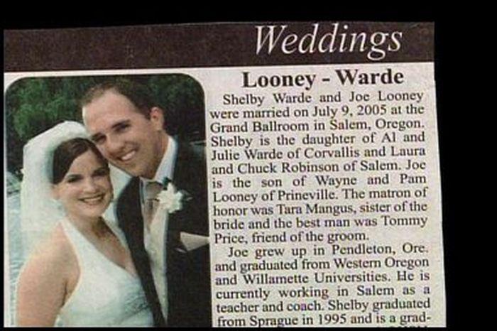 Unfortunate Name Combinations
