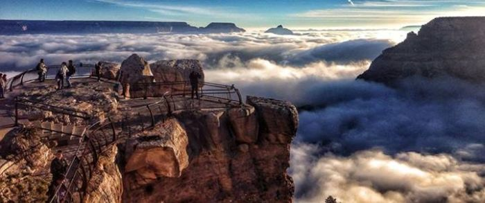 Fog in Grand Canyon