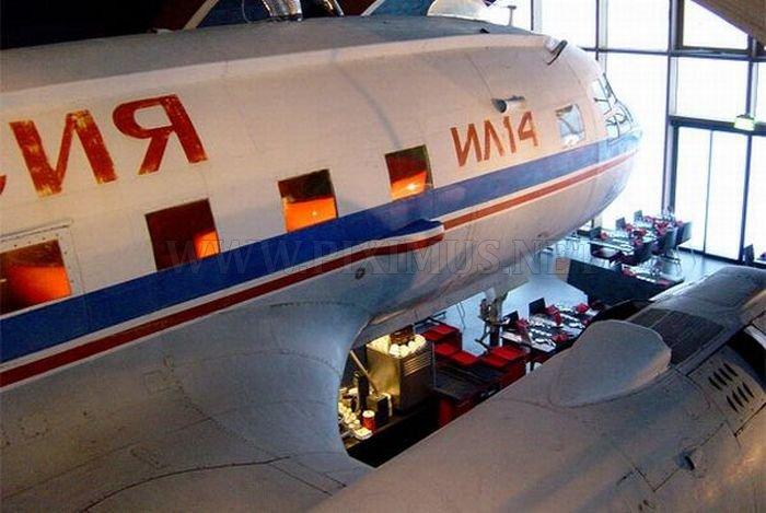 Restaurant Inside an Old Soviet Plane